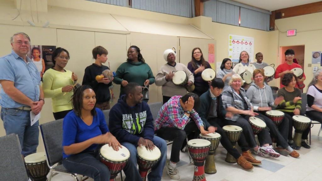 Saints drumming